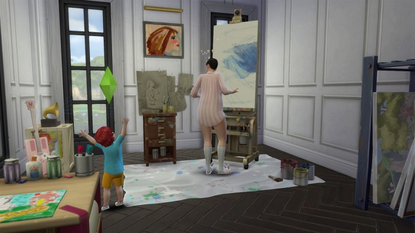 Art and Painting Studio — Sims 4 Pink Victorian House, Making it Lovely