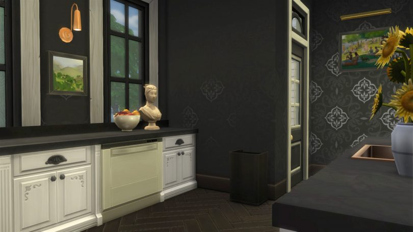 Kitchen and Back Door — Sims 4 Pink Victorian House, Making it Lovely