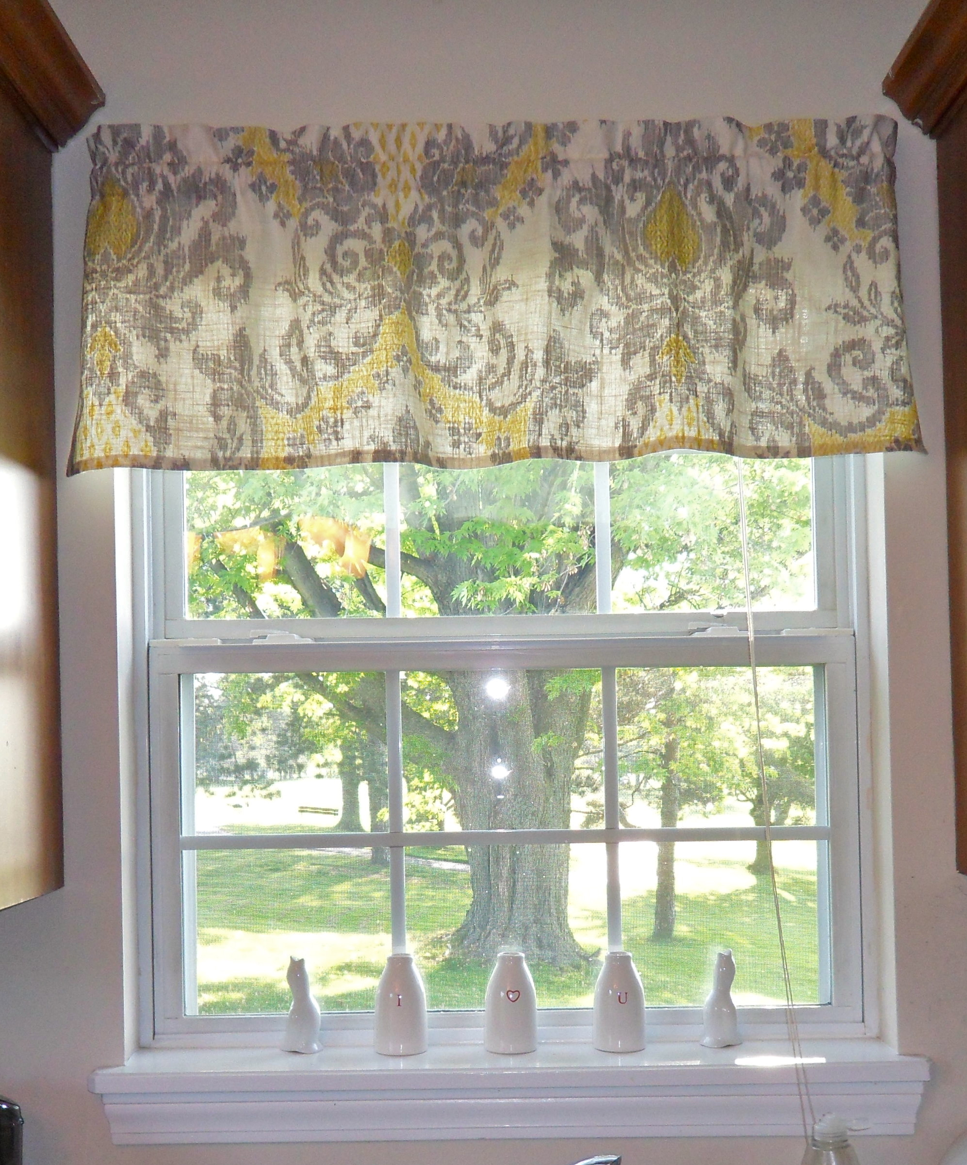 french lace kitchen curtains farmhouse sinks quick and easy window valance
