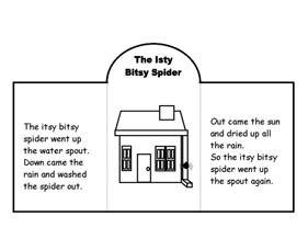 Rhyme Book for Itsy Bitsy Spider