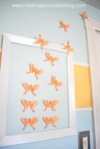 DIY Butterfly Wall Art (Nursery Decor)