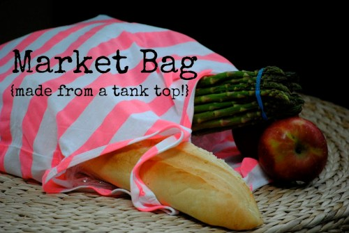 market tote from a tank top