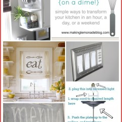 Easy Kitchen Remodel Refacers 10 Updates Budget Renovation Ideas On A Dime Via Www Makinglemonadeblog Com