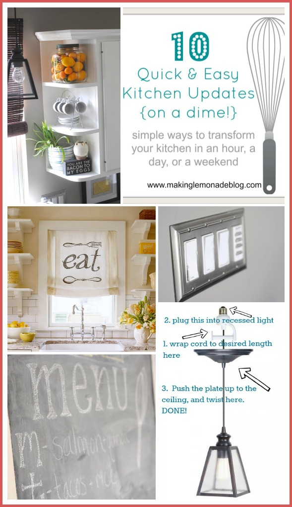 easy kitchen remodel mobile island 10 updates budget renovation ideas on a dime via www makinglemonadeblog com