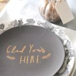 Modern Thanksgiving Table Mixed Metallic Making Lemonade