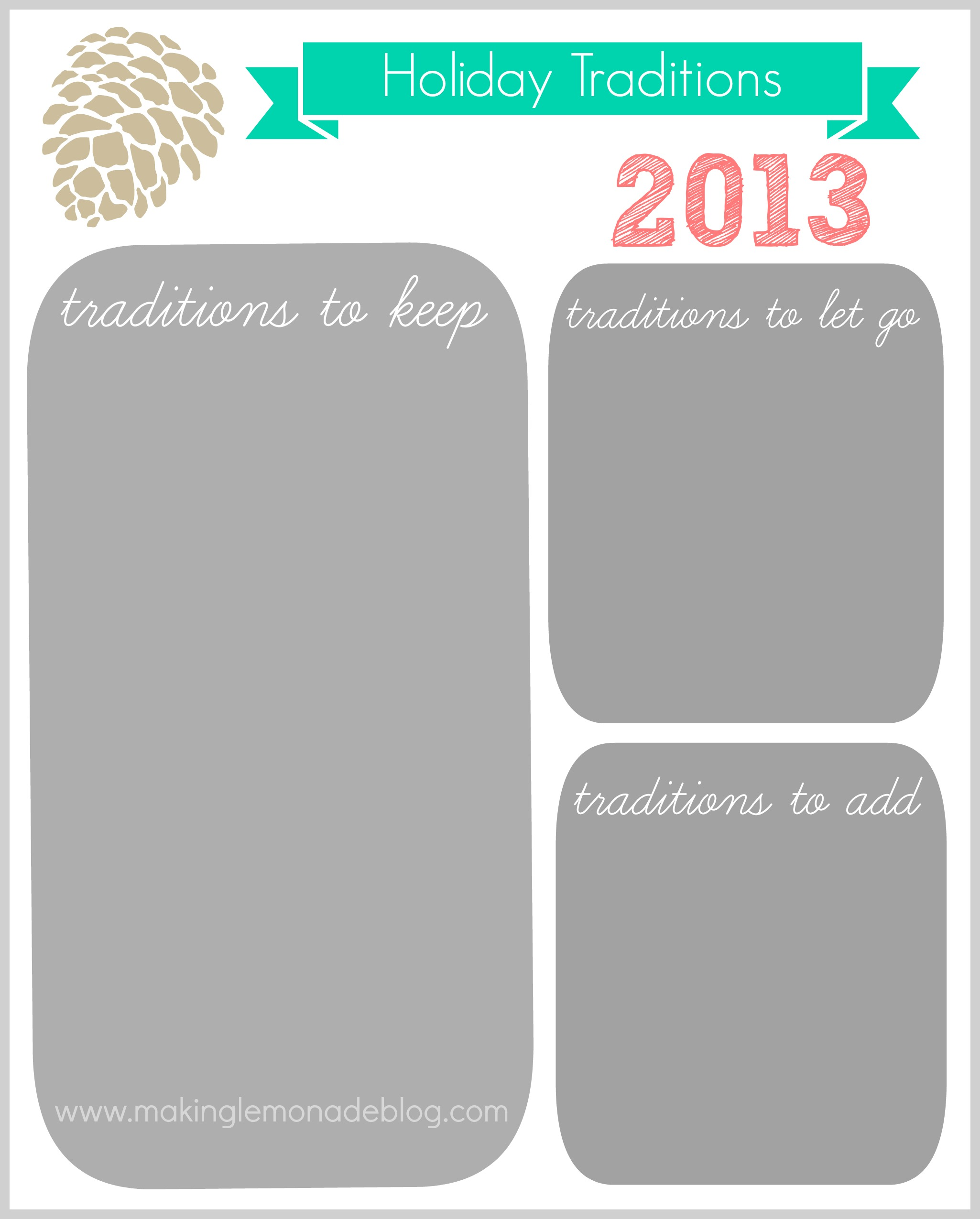 Stress Traditions Amp Letting Go Free Printables