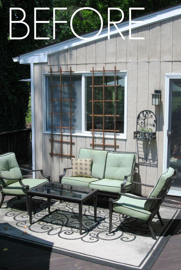 living room set diy bench plans our outdoor & deck makeover reveal ...