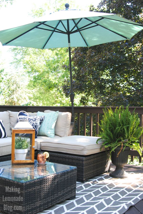 deck and outdoor dining area reveal