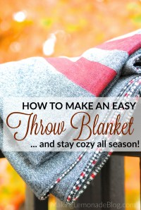 DIY Throw Blanket Tutorial (stay warm all season ...