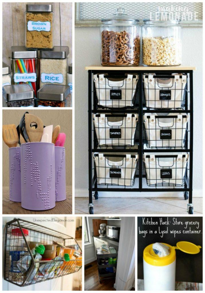 pegboard kitchen white drop leaf table 30 genius storage hacks + ideas