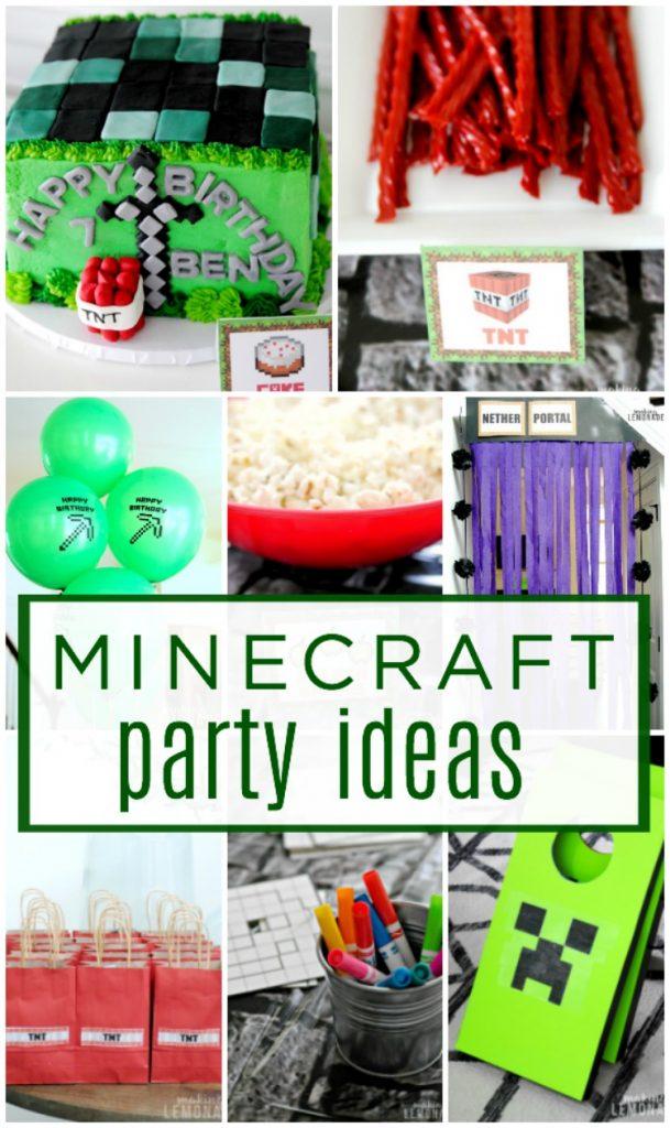 minecraft kids birthday party