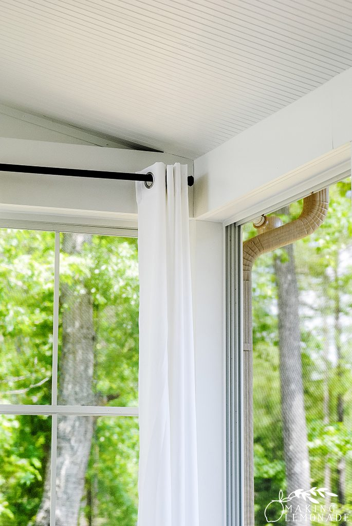 your porch with outdoor curtains