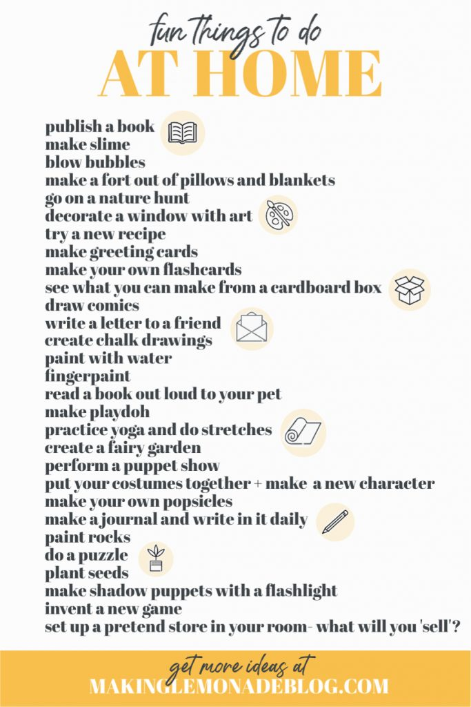 Free Printable: Fun Things To Do At Home With Kids ...