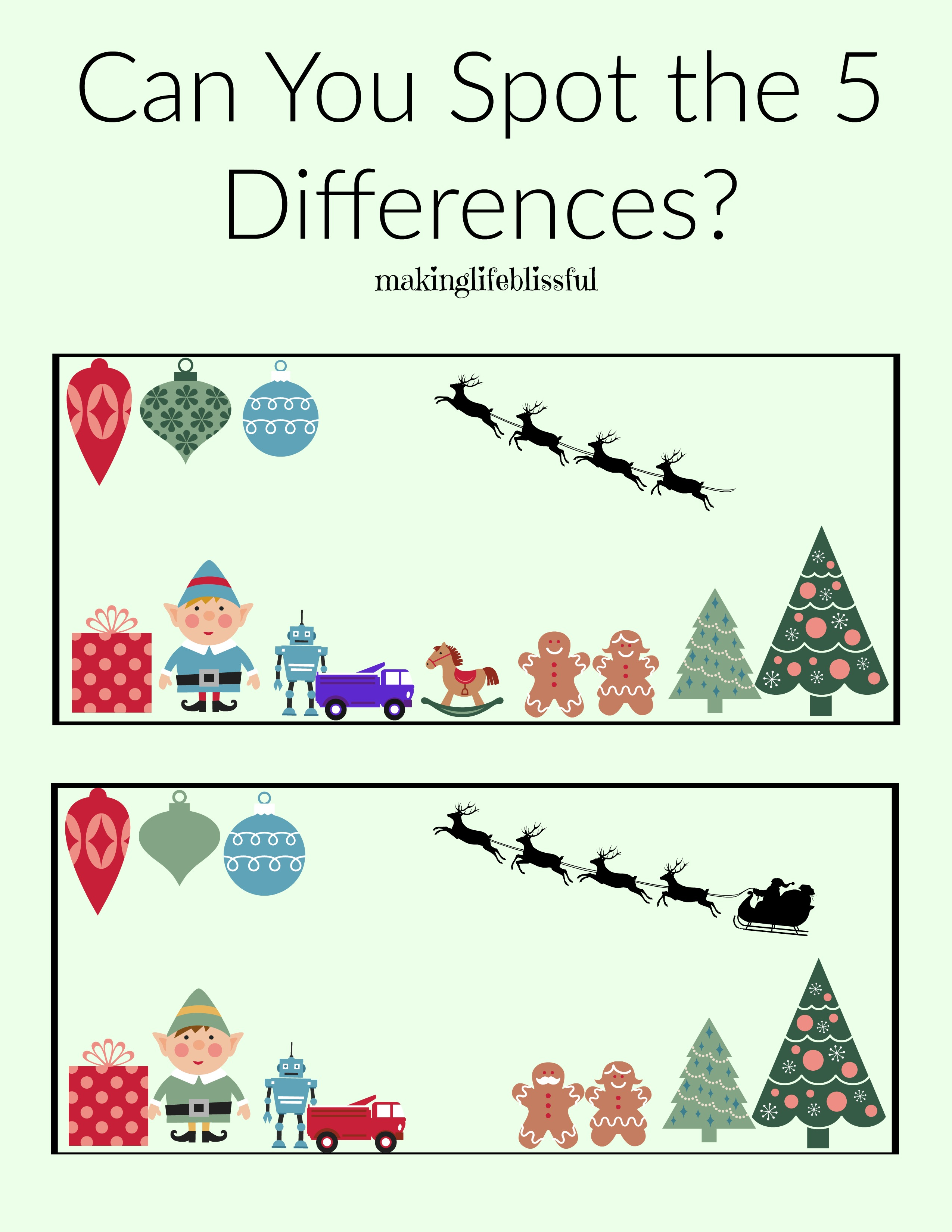 Christmas Spot The Difference 1