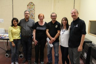 Seminar hosts, the Fajardos, the team from France & myself