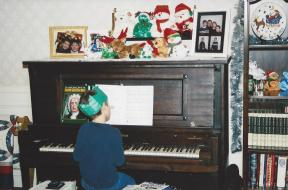 At the family piano