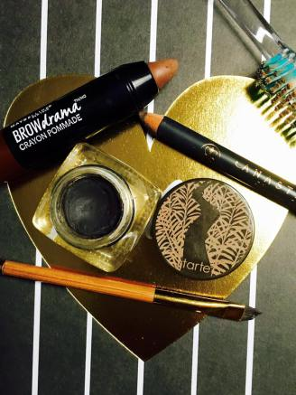 My cosmetics list is pretty short for natural-looking eyebrows. You can spend a lot of money and grab tons of products – but it's really not necessary.