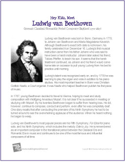 Ludwig Van Beethoven Free Famous Composer Biography