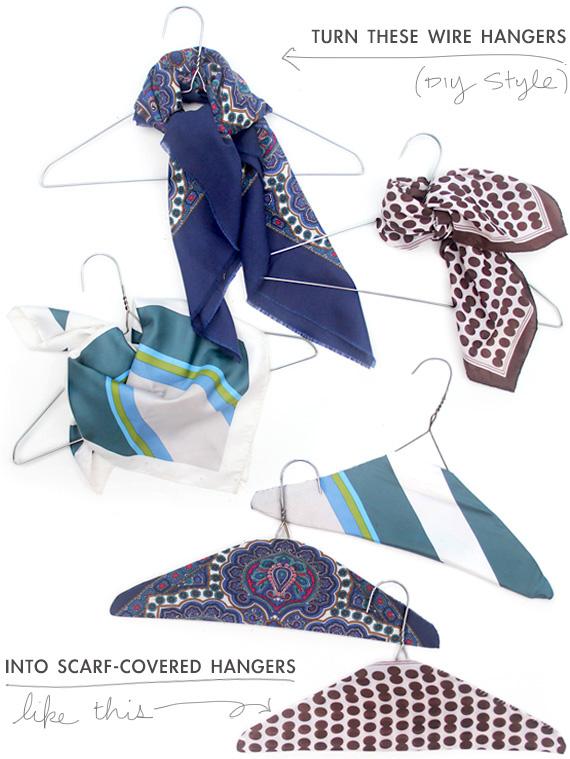 Nice Hangers : hangers, Vintage, Scarf, Covered, Hangers, Making, Midwest
