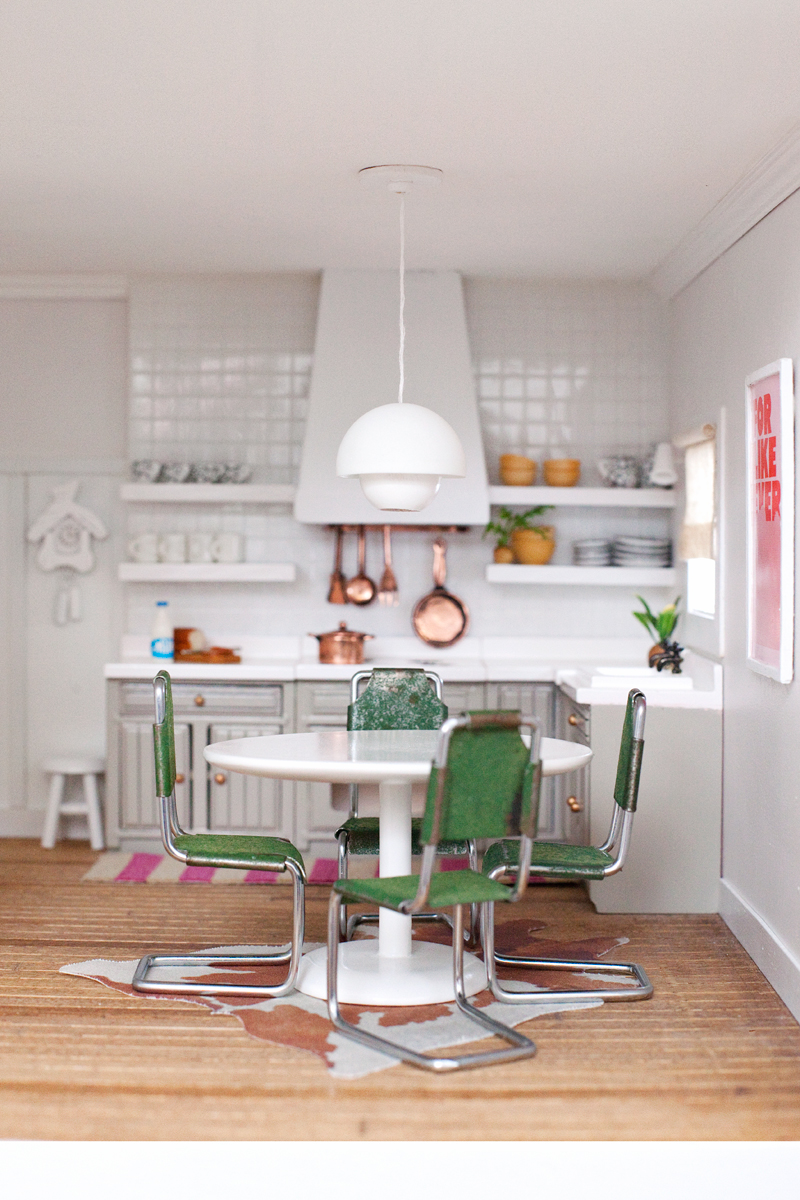 The Dollhouse Kitchen and Dining Room  Making Nice in the