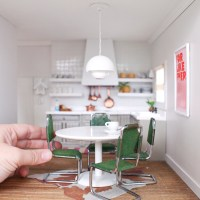 The Dollhouse Kitchen and Dining Room - Making Nice in the ...