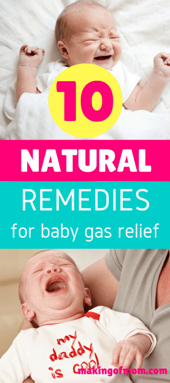 10 Natural Remedies for Baby Gas Relief - Making of Mom