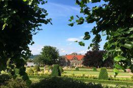 """Das """"Kleine Schloß"""" in Blankenburg mit dem barocken Schloßgarten"""