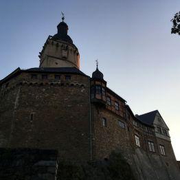 """Burg """"Falkenstein"""" im Abendlicht, Nordostharz"""