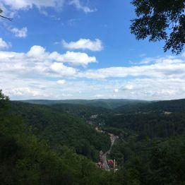 """Mein zweiter Steigerstempel! :-) Blick auf Altenbrak vom Aussichtspunkt """"Schöneburg"""" aus"""