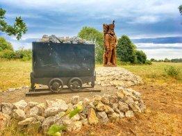 Bergbauliches Denkmal oberhalb von Rübeland