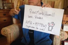 """hamill - Mark Hamill begs the internet to not share Episode VII spoilers. Internet responds """"No."""""""