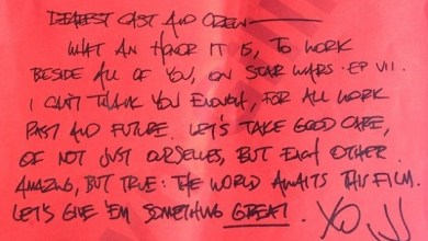 Photo of J.J. Abrams Cast & Crew Letter from the 1st Day of Filming.