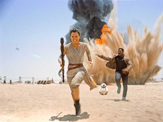 Rey Finn running  - Star Wars News: July's Audio & Video from Around the Galaxy