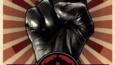 sw celebration walks propaganda poster vaders fist