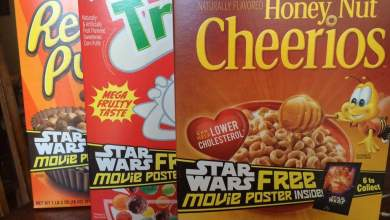 Photo of General Mills Cereal has all 6 Drew Struzan Star Wars posters inside for May 4th and new Star Wars Cereal!