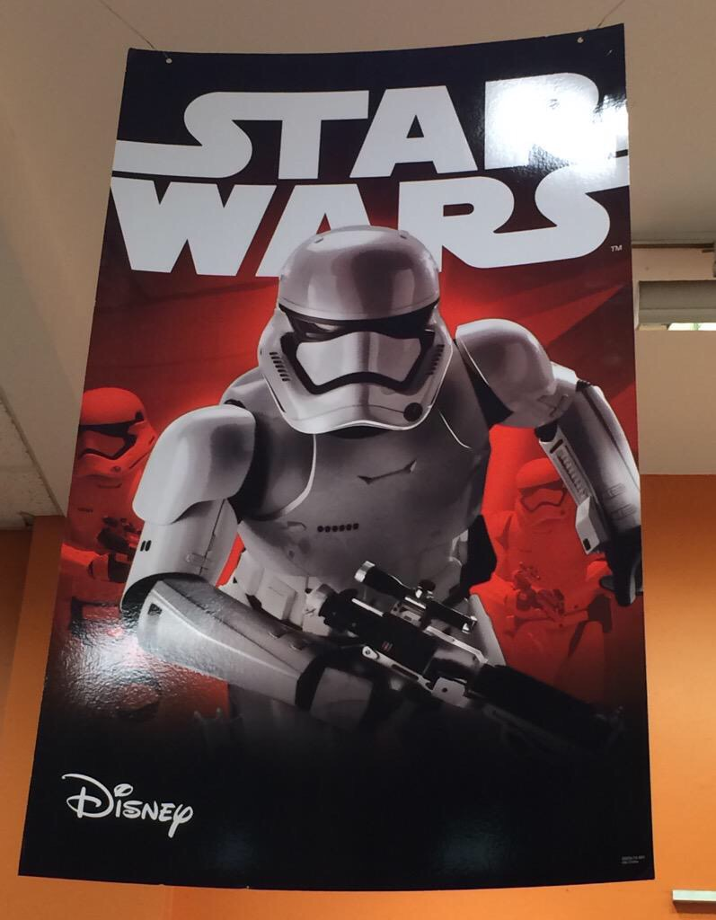 Star Wars: The Force Awakens' First Order Stormtrooper Pic from FYE Store in NY!