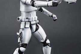 Trooper Firing 1 - The First Order Stormtrooper toys from Star Wars: The Force Awakens Invading SDCC