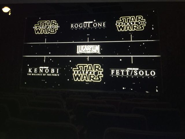 Rumor: Photo leaks with all Star Wars films due out until 2020.