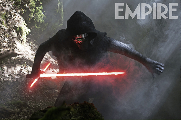 Star Wars: The Force Awakens Kylo Ren (Adam Driver) Ph: David James ©Lucasfilm 2015