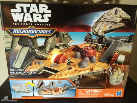 star wars the force awakens millennium falcon micromachines playset 080615 001