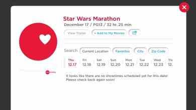 Photo of Star Wars Marathon listed on AMC app for December of 2015!