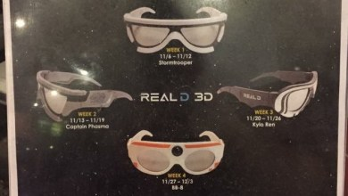 Photo of Star Wars: The Force Awakens 3D Glasses Release Dates! One a week for four weeks!
