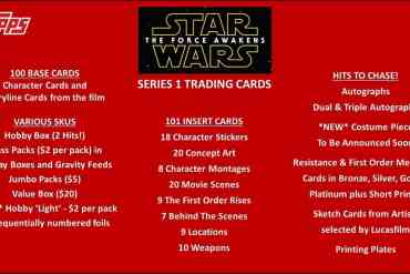 61 - Star Wars: The Force Awakens Topps Series 1 Information Revealed