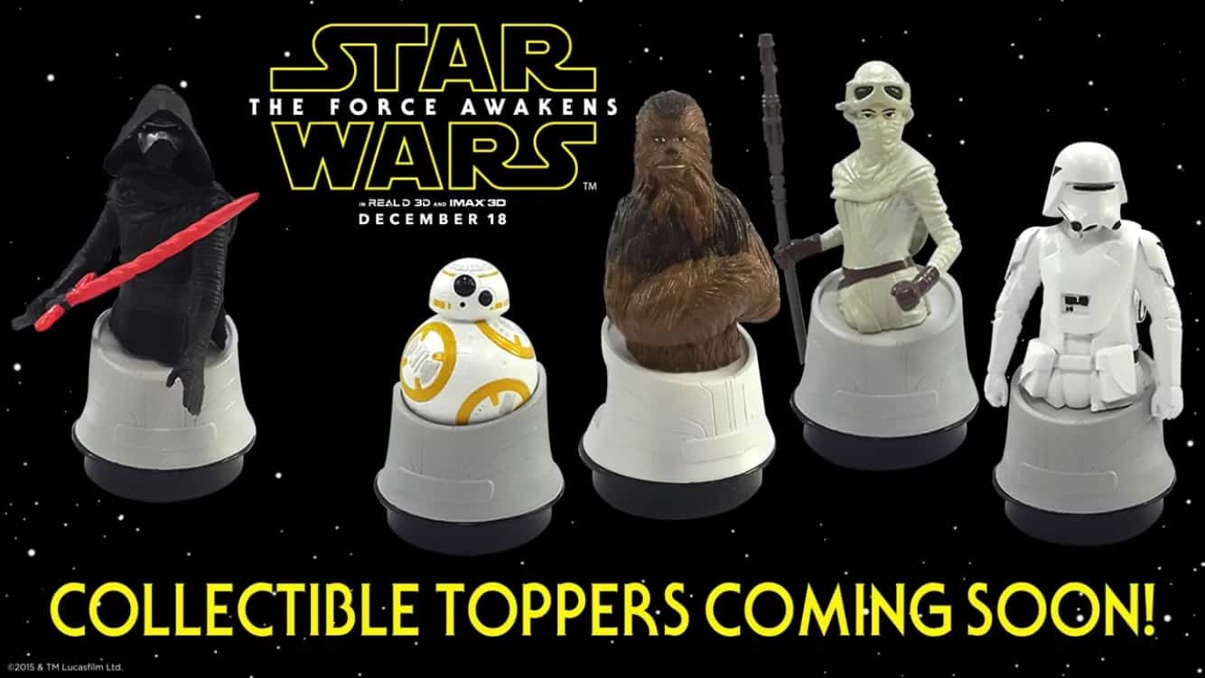star wars the force awakens collectible toppers from regal star wars the force awakens collectible toppers from regal