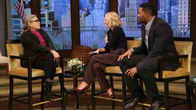 Photo of Carrie Fisher's interview from LIVE with Kelly and Michael! Gary poops!