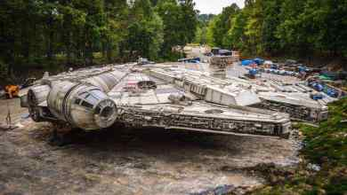 Photo of Beautiful photos of the Falcon and set from Star Wars: Episode VIII!
