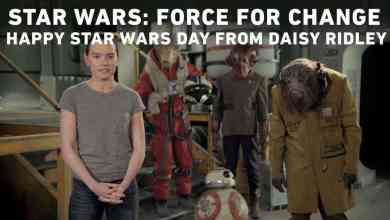 Photo of Daisy Ridley wishes fans a happy Star Wars day on the set of Episode VIII!