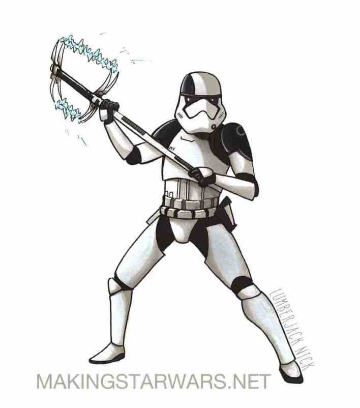 Executioner - Accurate Captain Phasma, Executioner Stormtroopers, and Kylo Ren Star Wars: The Last Jedi character sketches