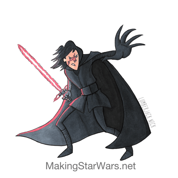 Kylo Ep8 - Accurate Captain Phasma, Executioner Stormtroopers, and Kylo Ren Star Wars: The Last Jedi character sketches