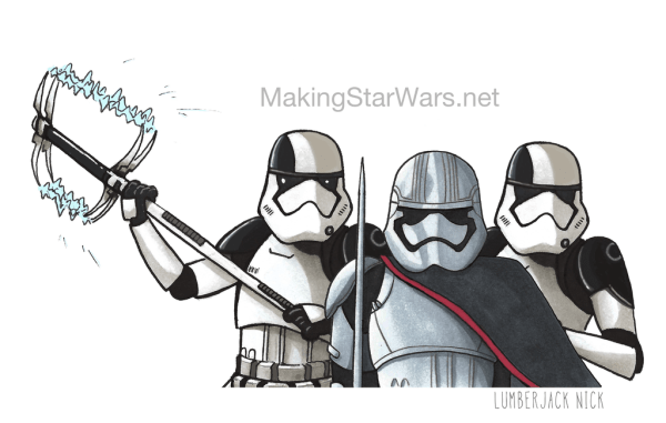 Phasma Gang Ep8 Finished - Accurate Captain Phasma, Executioner Stormtroopers, and Kylo Ren Star Wars: The Last Jedi character sketches